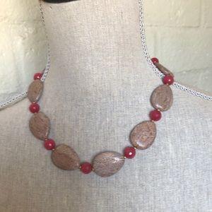 Jewelry - Jasper and watermelon quartz chocker Necklace